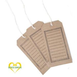 Brown Stamped Tags