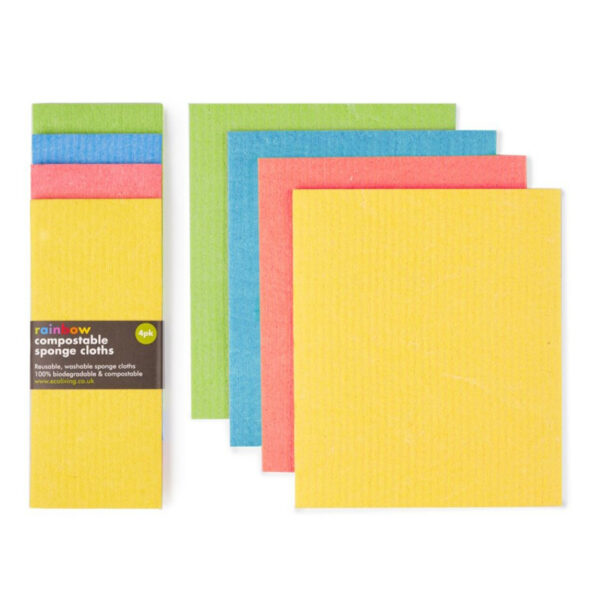 Compostable sponge cleaning cloths 4 pack
