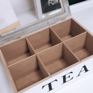 White Glass Lid Storage Box Tea